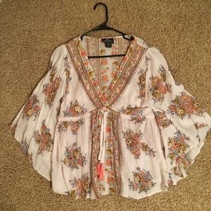 Boho Floral Tunic Top